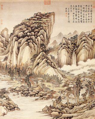 peinture-chinoise-torrents-montagnes-encre