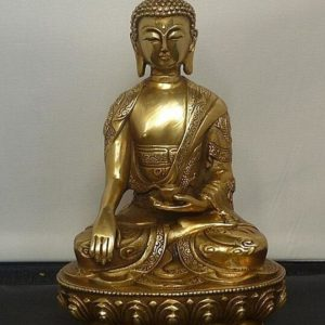 Statuette-en-cuivre-Tibetaine-bouddha-tibetain-shakyamuni-meditation