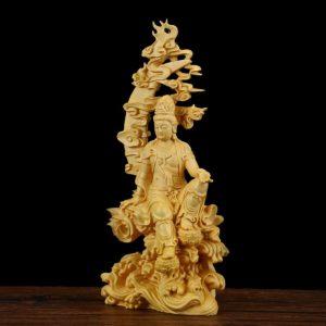 3 Incarnations de Bouddha Statuette Bouddhiste D/écoration Asiatique