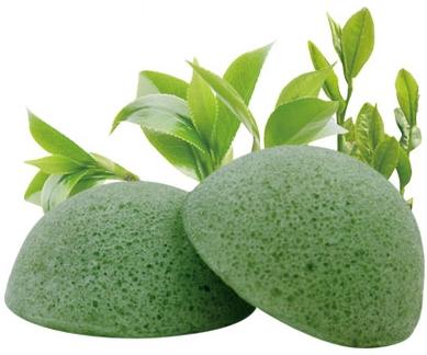 eponge-konjac-thé-vert